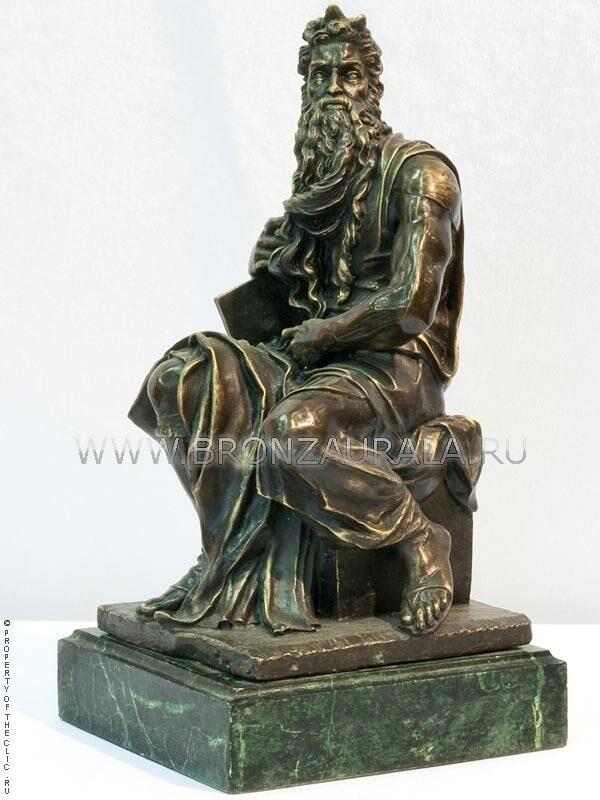 Бронзовая фигурка Моисея