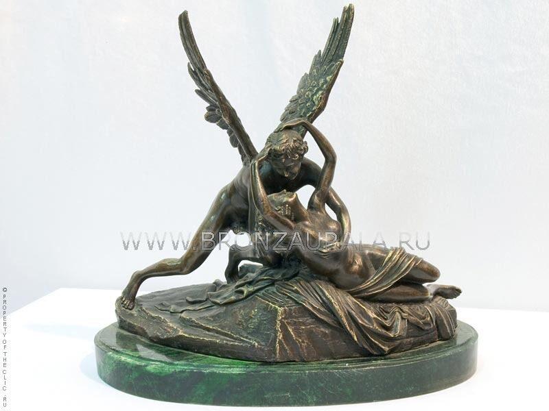 Бронзовая статуэтка Амур и Психея